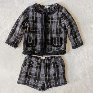 Molly Bracken Mini Molly Tweed Jacket Shorts Set